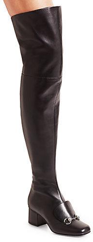 eb36c5cbdb5 ... Gucci Lillian Over The Knee Leather Horsebit Boots ...