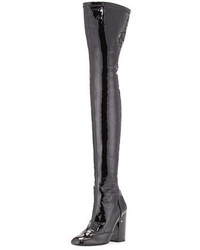 Laurence Dacade Madison Patent Over The Knee Boot Black