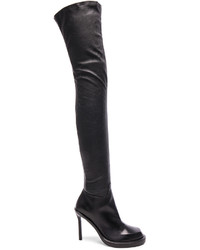 Ann Demeulemeester Over The Knee Leather Boots