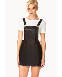 Dynamite faux leather overall dress medium 78659
