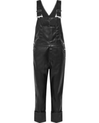 Faux leather overalls black medium 1191213