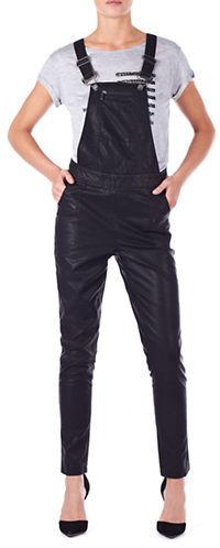 c03e9ed832d ... William Rast Faux Leather Overalls