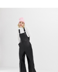 Collusion Leather Look Dungarees