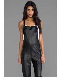 high quality materials new season look for Women's Black Leather Overalls by Friend of Mine | Women's ...