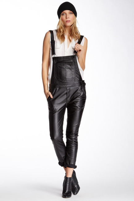 6476d0cf44b ... Overalls Black Orchid The Skinny Faux Leather Overall ...