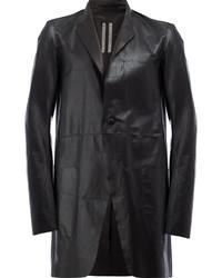 Black Leather Overcoat