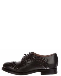 Alaia Alaa Leather Lace Up Oxfords