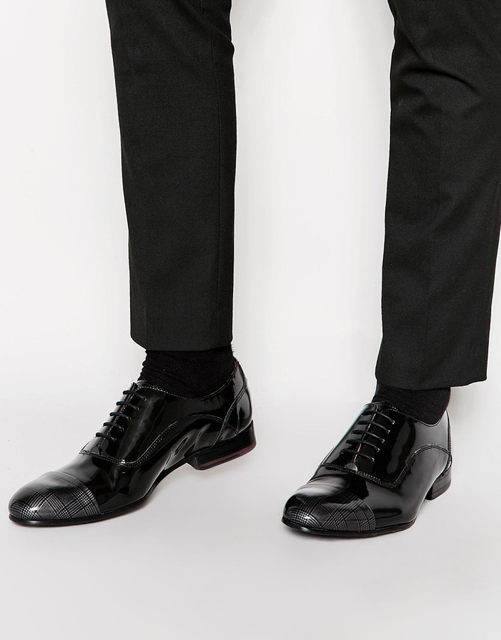 Ted Baker Archeey Patent Toe Cap Oxford