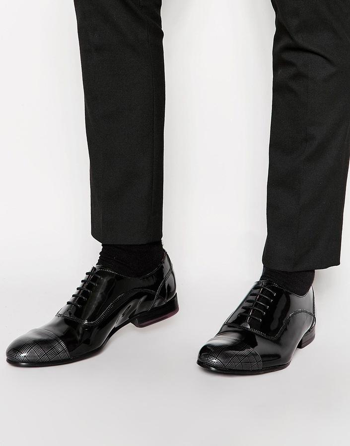 8bfa4b485e82 ... Ted Baker Archeey Patent Toe Cap Oxford Shoes ...
