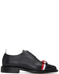 Thom Browne Black And Tricolor Wholecut Bow Oxfords
