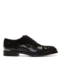 Alexander McQueen Black Leather Oxfords