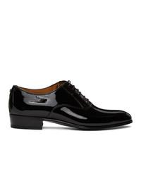 Gucci Black Patent Double G Oxfords