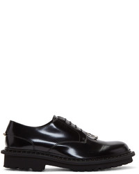 Neil Barrett Black Pierced Tuxedo Oxfords