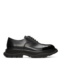 Alexander McQueen Black Tread Derbys