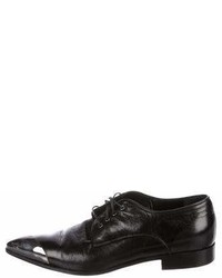 Miu Miu Cap Toe Leather Oxfords