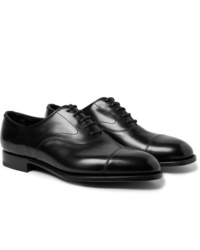 Edward Green Chelsea Cap Toe Burnished Leather Oxford Shoes