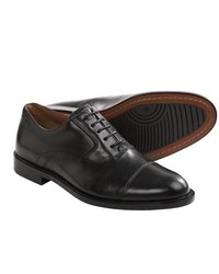Clarks Dorset Boss Oxford Shoes Leather Lace Ups Black Leather