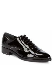 Sigerson Morrison Elinor Studded Patent Leather Oxfords