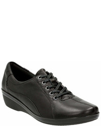 Clarks Everlay Elma Leather Lace Up Oxfords