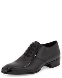 Gianni patent leather lace up shoe black medium 337081