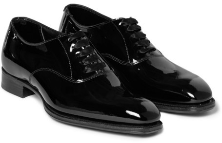 + George Cleverley Patent-leather Oxford Shoes Kingsman JzuZJ78