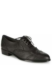 Stuart Weitzman Laddie Textured Leather Oxfords