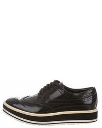 Prada Leather Flatform Oxfords