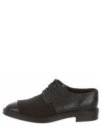 Yang Li Leather Lace Trimmed Oxfords