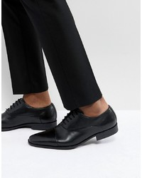 Pier One Leather Oxford Shoes In Black