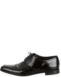 Prada Leather Square Toe Oxfords