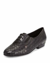 Sesto Meucci Nadir Woven Leather Oxford Black
