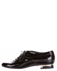Chanel Patent Leather Cap Toe Oxfords