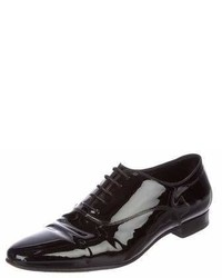 Saint Laurent Patent Leather Pointed Toe Oxfords