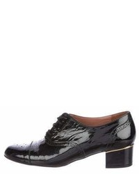 free shipping amazing price Robert Clergerie Patent Leather Round-Toe Oxfords popular cheap price kZGiQn