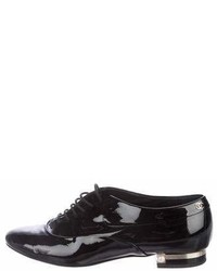 Chanel Patent Leather Round Toe Oxfords