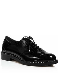 Jimmy Choo Reeve Crystal Trimmed Patent Leather Oxfords