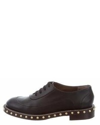 Marni Studded Leather Oxfords
