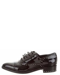 Sigerson Morrison Studded Patent Leather Oxfords