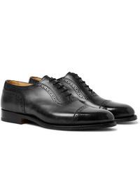 Tricker's Trenton Cap Toe Leather Oxford Brogues