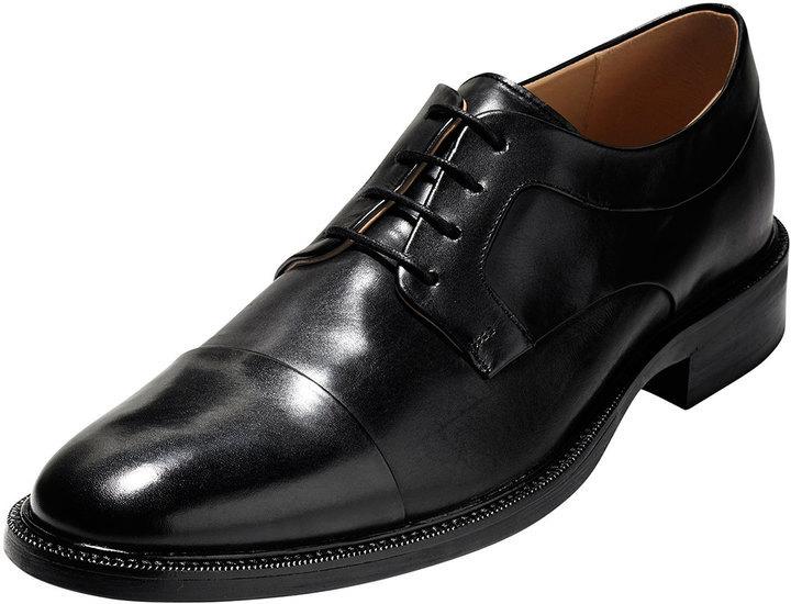 fb8139d5d8c ... Cole Haan Warren Cap Toe Leather Oxford Black ...