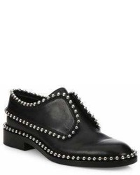Alexander Wang Wendie Leather Embellished Laceless Oxfords