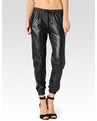 Jadyn pant black leather medium 116497