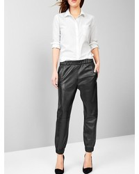 Gap Leather Jogger Pants