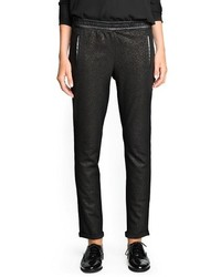 Mango Outlet Contrast Appliqu Glitter Trousers