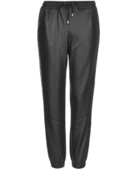 Topshop Petite Leather Look Joggers