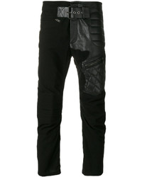 Haider Ackermann Leather Biker Patch Trousers