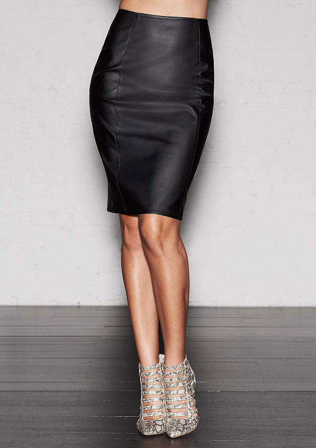 alloy stacia faux leather pencil skirt where to buy