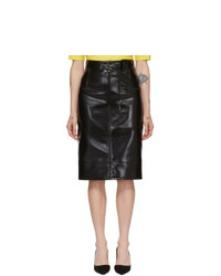 Kwaidan Editions Black Coating Pencil Skirt