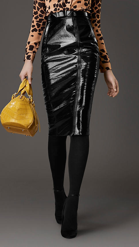Burberry Patent Leather Pencil Skirt | Where to buy & how to wear