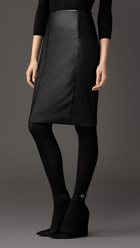 burberry stretch leather pencil skirt where to buy how